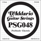 D'Addario PSG048 ProSteels Electric Guitar Single String, .048