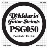 D'Addario PSG050 ProSteels Electric Guitar Single String, .050