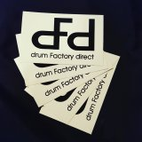 White dFd Stickers, 5 Pack
