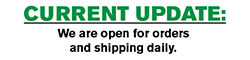 Yes, we are open and shipping as usual!