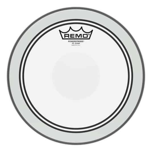 "10"" Remo Clear Powerstroke 3 Tom Drum Batter Side Drumhead With Clear Dot, P3-0310-C2"