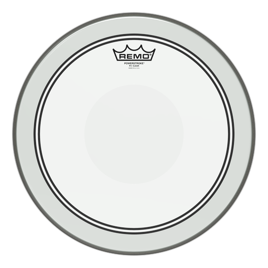 "14"" Remo Clear Powerstroke 3 Tom Drum Batter Side Drumhead With Clear Dot, P3-0314-C2"