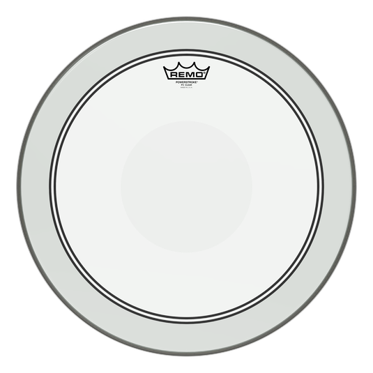 "18"" Remo Clear Powerstroke 3 With Clear Dot, Tom Drum Batter Side Drumhead, P3-0318-C2"
