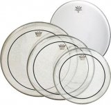 "Remo Clear Pinstripe Pro Pack, 12"", 13"", 16"", And Free 14"" Coated Ambassador, PP-0320-PS"