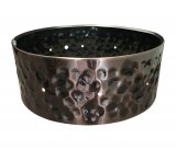 5.5x14 Hammered Dark Cooper Plated Steel Snare Shell, Drilled For 10 Single Point Lugs