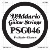 D'Addario PSG046 ProSteels Electric Guitar Single String, .046