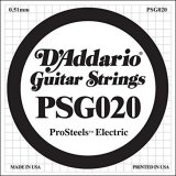 D'Addario PSG020 ProSteels Electric Guitar Single String, .020