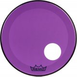 "22"" Remo Powerstroke 3 Colortone Bass Drum Head, Purple, With Port Hole, P3-1322-CT-PUOH"