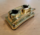 Bass Drum Double Tom Holder Bracket, Brass, Blemished