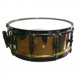 dFd 5.5x14 3mm Brass Snare Drum With Black Nickel Hardware