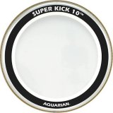 "16"" Super-Kick 10 Double Ply Heavy Weight Bass Drumhead With STKP2 Super Thin Double Kick Pad By Aquarian"