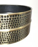 Old Stock 6.5x14 Hammered Black Hawg Brass Snare Shell, No Holes, BKSH-6514_blem3