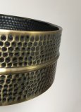 Out Of Round 6.5x14 Hammered Black Hawg Brass Snare Shell, No Holes, BKSH-6514_blem2