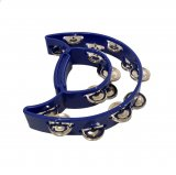 Double Moon Tambourine, Dark Blue, By dFd