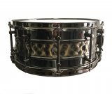 Blemished dFd 6.5x14 Brass Snare Drum With Hammered Inlay Style Pattern