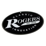 "Rogers Logo Metal Sign, 12"" x 8"""