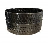 6.5x13 Hammered Black Nickel Plated Steel Snare Shell, Drilled For 8 TU-150 Tube Lugs