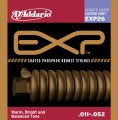 D'Addario EXP26 NY Steel Phosphor Bronze Acoustic Guitar Strings, Custom Light, 11-52