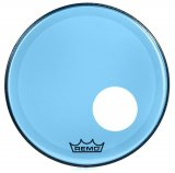 "18"" Remo Powerstroke 3 Colortone Bass Drum Head, Blue, With Port Hole, P3-1318-CT-BUOH"