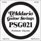 D'Addario PSG021 ProSteels Electric Guitar Single String, .021