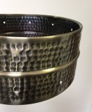 Old Stock 6.5x14 Hammered Brass Snare Shell, Drilled For 10 TU-150 Lugs, BKSH-6514/10150_blem8