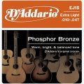 D'Addario EJ15 Phosphor Bronze Extra Light Acoustic Strings