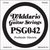 D'Addario PSG042 ProSteels Electric Guitar Single String, .042