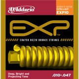 D'Addario EXP10 NY Steel Acoustic Guitar Strings, 80/20, Extra Light, 10-47