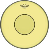 "14"" Remo Yellow Powerstroke 77 Colortone 2 Ply Snare Drum Drumhead, P7-0314-CT-YE"