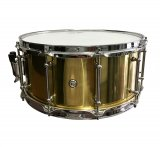 dFd 6.5x14 Brass Snare Drum With Chrome Hardware