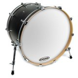 "16"" Evans EQ3 Side Resonant Bass Drum Drumhead, Not Ported, Smooth White, Hoop Will Not Seat"