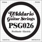 D'Addario PSG026 ProSteels Electric Guitar Single String, .026