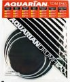 Response 2 Black Coated Two Ply Tom Drumhead Pack, 10, 12, And 14 Inch Drumheads By Aquarian