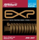 D'Addario EXP38 NY Steel Phosphor Bronze 12-String Acoustic Guitar Strings, Light, 10-47