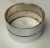 8x14 Steel Snare Shell, No Holes, Chrome Plated