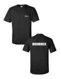 Aquarian Drummer Logo Shirt, Black, Large