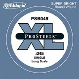 D'Addario PSB045 ProSteels Bass Guitar Single String, Long Scale, .045