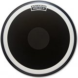 "16"" Super-Kick III Black Coated Single Ply Bass Drumhead With Power Dot By Aquarian"