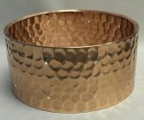 6.5x14 Hammered Bronze Snare Shell, Drilled For 10 TU-150 Lugs