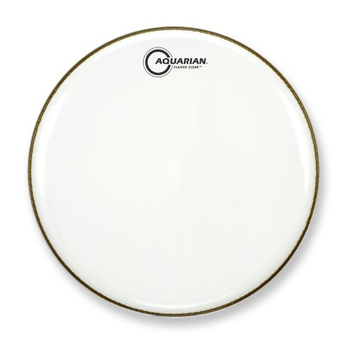 "10"" Gloss White Classic Clear Single Ply Drumhead By Aquarian"
