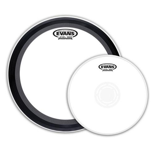"Evans EMAD Heavyweight Knockout Pack, 22"" Bass And 14"" Snare Batter Side Drumheads"