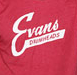 Evans Vintage Logo Shirt, Red