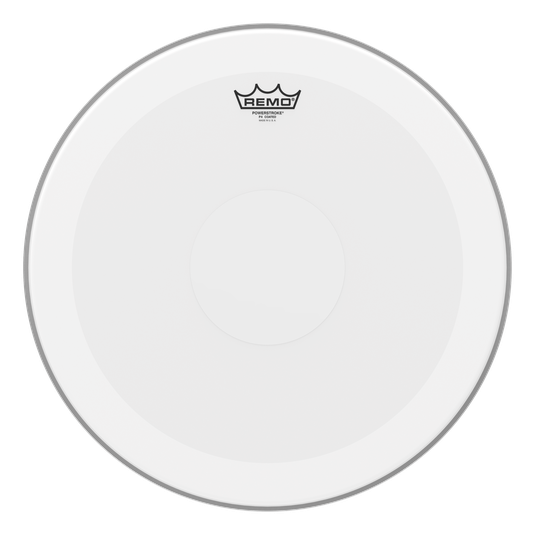 "18"" Remo Coated Powerstroke 4, 2 Ply Tom Drum Drumhead With Clear Dot"