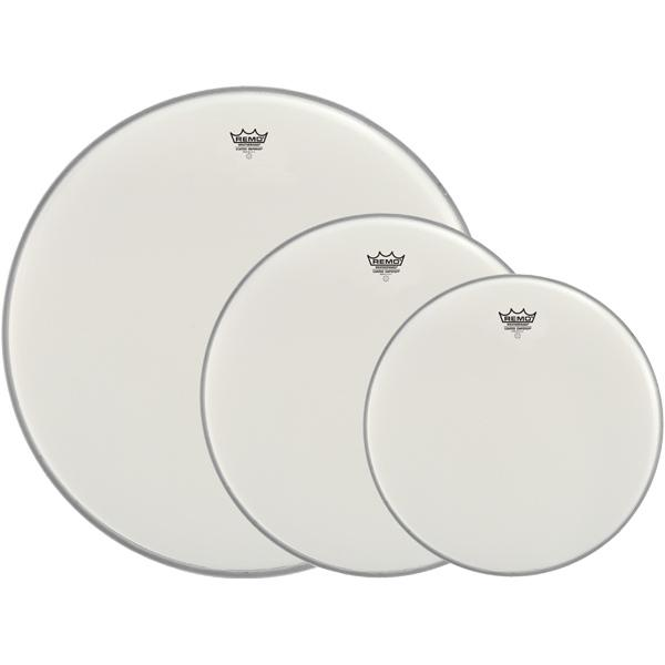 "Remo Coated Emperor 10"", 12"", And 16"" Tom Drumhead Pack, PP-1410-BE"