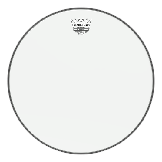 "12"" Remo Classic Fit Clear Ambassador Drumhead For Snare Drum Or Tom Drum"