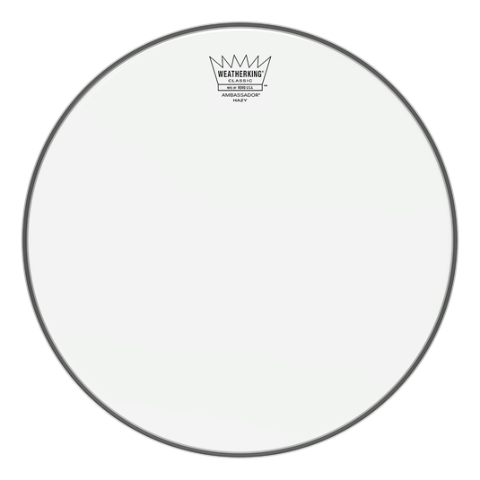 "13"" Remo Classic Fit Hazy Ambassador Snare Side Drumhead"