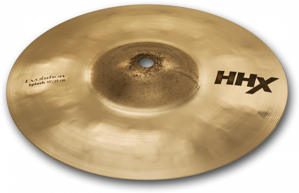 "10"" Sabian HHX Hand-Hammered Evolution Splash Brilliant Finish Cymbal, 11005XEB"